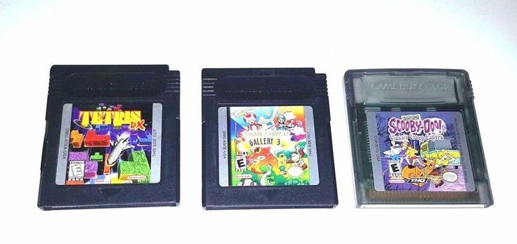 3 Gameboy Color Games TETRIS DX ~ GAME & WATCH GALLERY 3 ~ SCOOBY DOO CAPERS