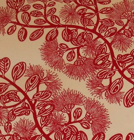 Pohutukawa table runner (via @Mooki Latte)