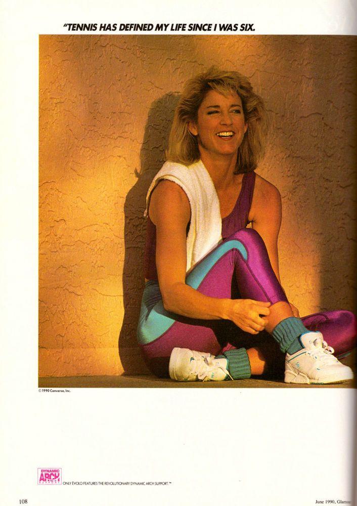 1990 Chris Evert Converse Tennis Shoes Print Ad Vintage Advertisement VTG 90s #Converse
