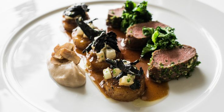 Venison with braised potatoes recipe