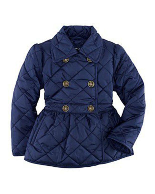 Ralph Lauren Childrenswear Toddler Girls' High-Waisted Quilted Jacket