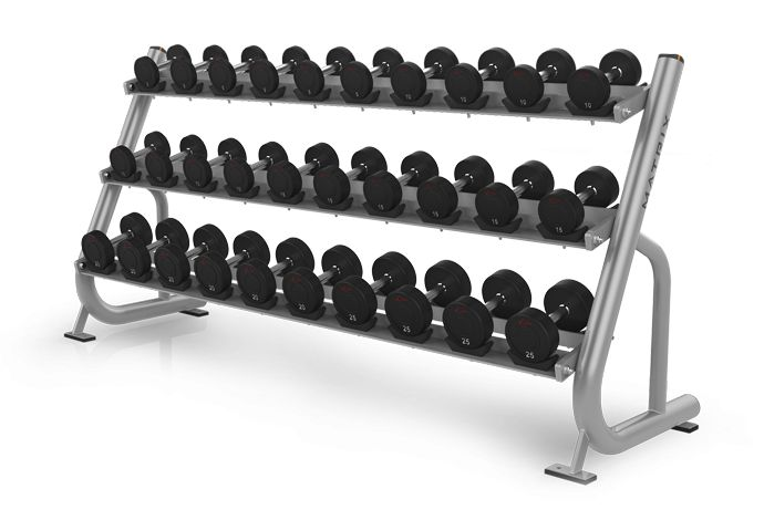 3-tier Dumbbell Rack w/Saddles MG-A42