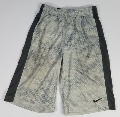 Nike Boys Shorts Active Basketball Dri-Fit Running Track Workout Size Large Grey