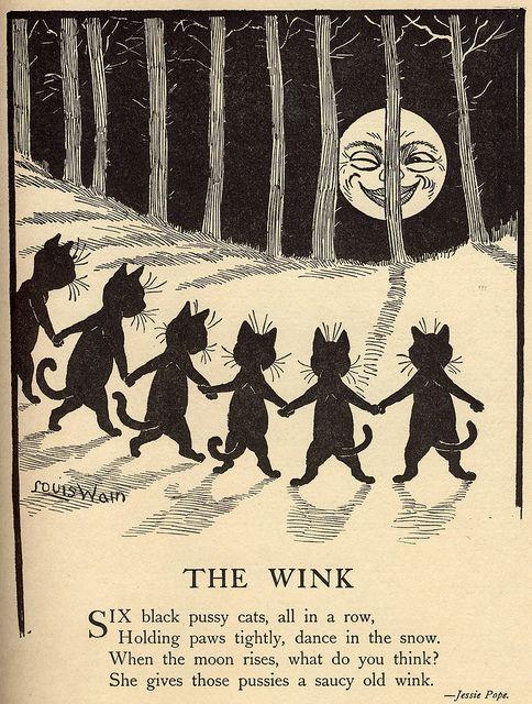 the wink-poem and black cat illustration