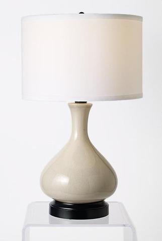 gray cordless table lamp