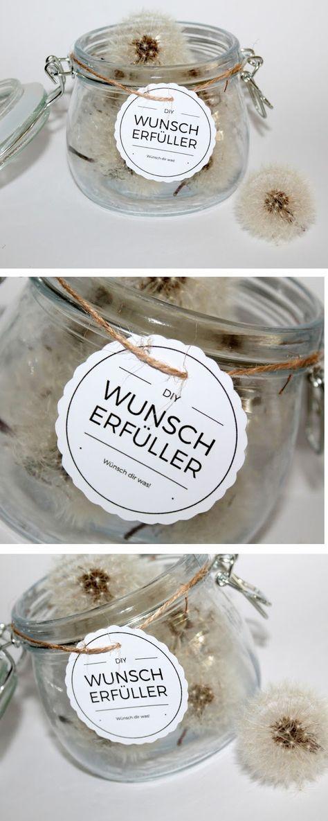 DIY Geschenk im Glas: Wunscherfüller Pusteblume selber machen