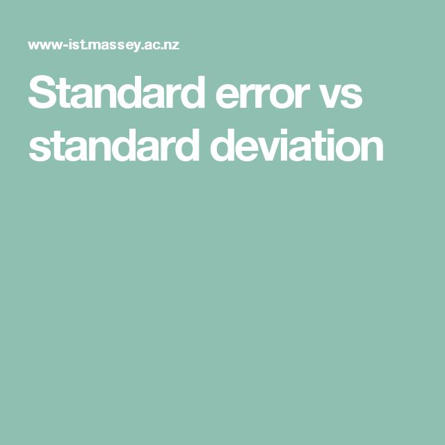 Standard error vs standard deviation