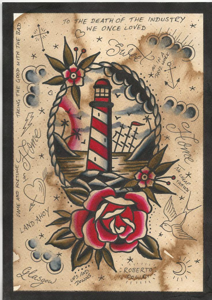 Print Available #tattoo#tattoos#tattooflash#traditionaltattoo#glasgow#vintagetattoo#tattooart#vintage#lighthousetattoo