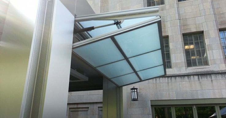 The Hydraulic Lift System Operates The Large Doors Doors