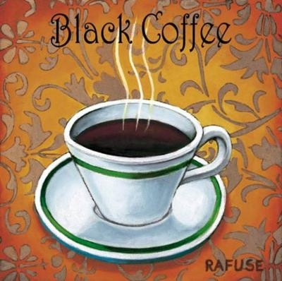 Black coffee - well, if you're up this early on a Sunday morning you may as well fuel up!