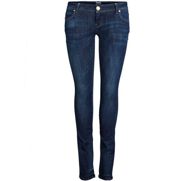 ONLY Skinny Superlow Coral Jeans (145 BRL) ❤ liked on Polyvore featuring jeans, dark blue denim, skinny jeans, skinny leg jeans, slim skinny jeans, skinny fit denim jeans and denim skinny jeans