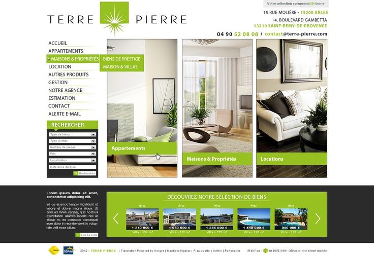 Maquette - Site Terre Pierre, agence immobilière à Arles et St Remy de Provence