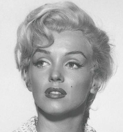 Marilyn up close. Her on the set of River of No Return. Just take a minute to look and see how incredible her eyes were. I mean have you really ever seen eyelids shaped the way hers were? Think hard now.