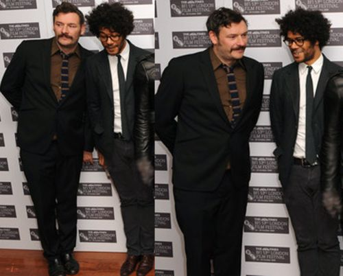 Julian Barratt and Richard Ayoade ~ worked together in The Mighty Boosh, Nathan Barley and...something else, i'm sure! (Julian is one of my all-time favourite funny people)