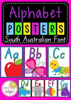 Alphabet Posters SA Font