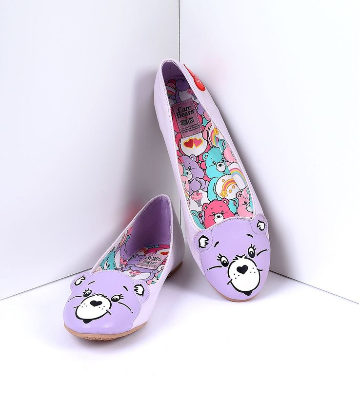 Care Bear Furry Porn - Lilac Vegan Leather Care Bears Stare Flats