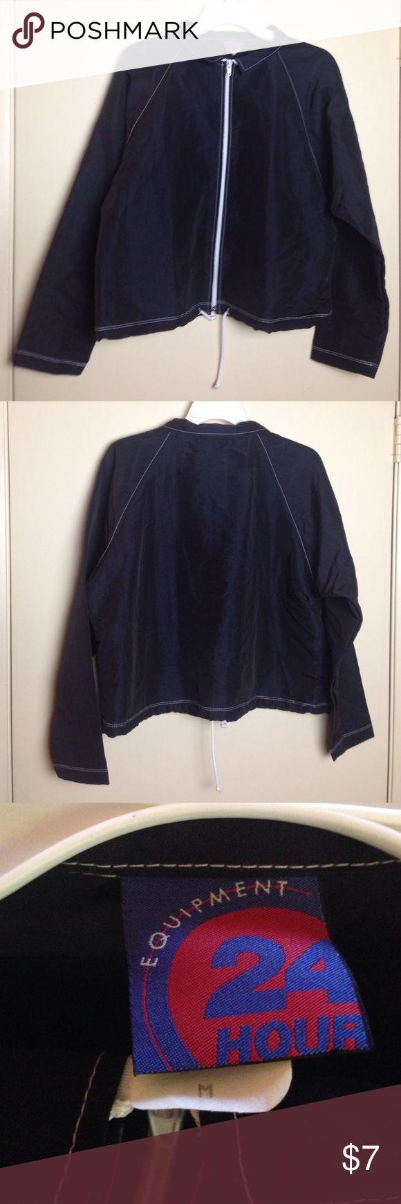 Beautiful 24 Hr FITNESS Equipment Jacket Excellent Beautiful 24 Hr FITNESS Equipment Jacket Size M Very Cute 24 hr Fitness Equipment Jackets & Coats Lightweight & Shirt Jackets