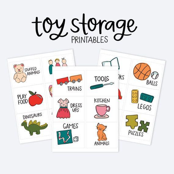 Kids Toy Room Organization Labels - Toy Storage Printables