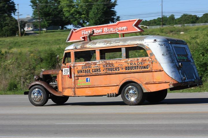 Ford Trucks For Sale Near Me >> Hot Rod Bus is Rollin' | School Bus | Pinterest | Buses, School buses and Hot rods