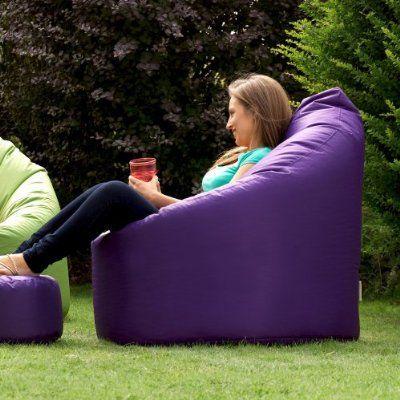 Adult XXL Giant Bean Bag Chair - Luxury Teardrop Beanbag - PURPLE Indoor & Outdoor Bean Bags