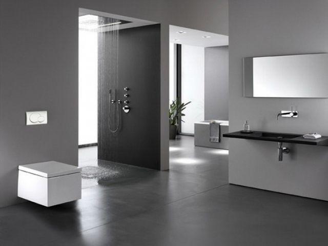 douche litalienne effet pluie dans la salle de bain moderne - Douche A Litalienne Moderne