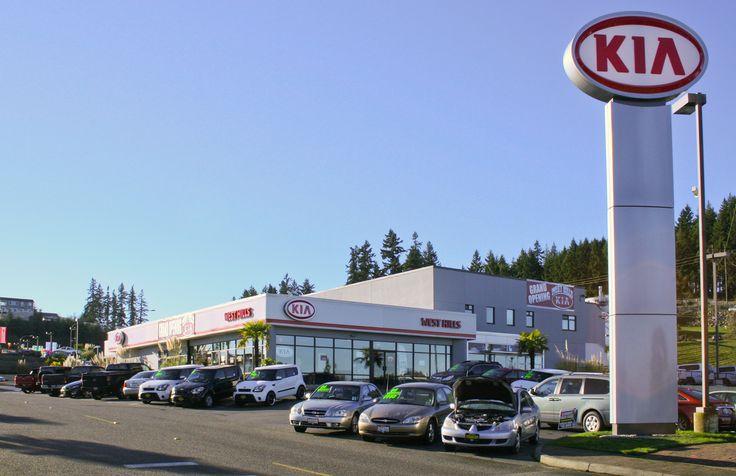 Storefront of West Hills Kia in Bremerton, Wash. Kia
