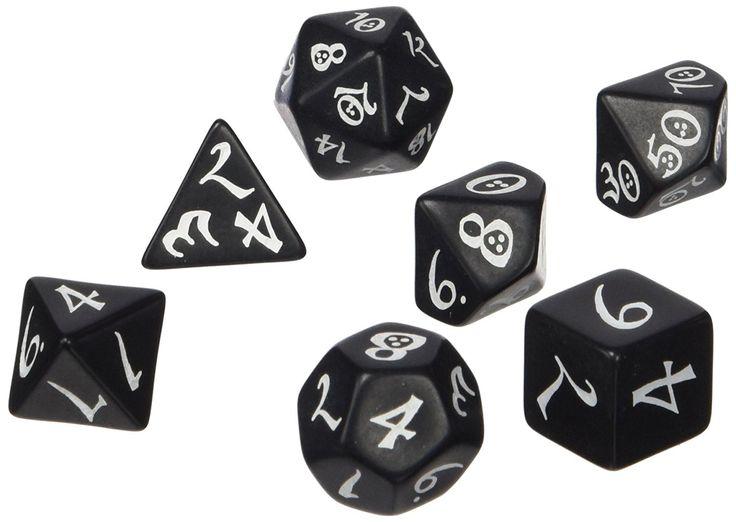 Dice: Classic RPG Dice Set, Black/White