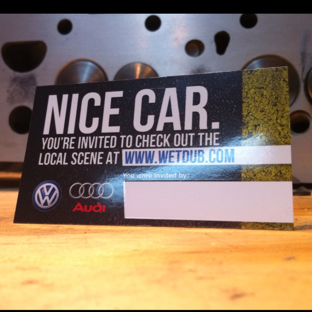 A Rigo Design invite for a local car club. Meant to be left on cool cars that current club members see out and about.
