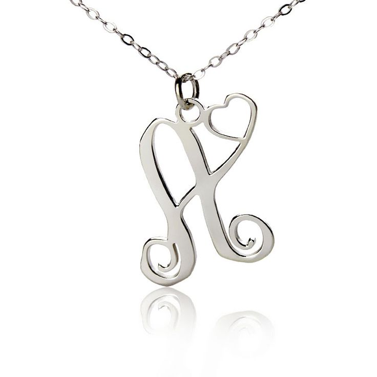 Ns single letter monogram jewelry 25 single initial monogram with heart necklace rose gold mozeypictures Image collections