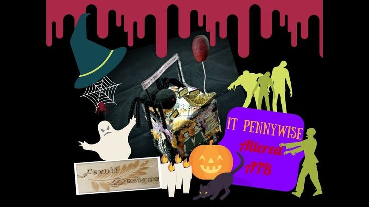DIY: It Pennywise altered ATB - Fernli Designs DT project of October