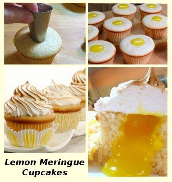 #Lemon #Meringue #Cupcake - We love and had to share! Great #CakeDecorating!