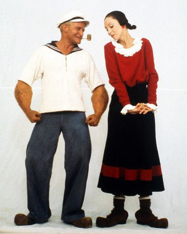 This image is from Popeye and features Robin Williams and Shelley Duvall as Olive Oyl