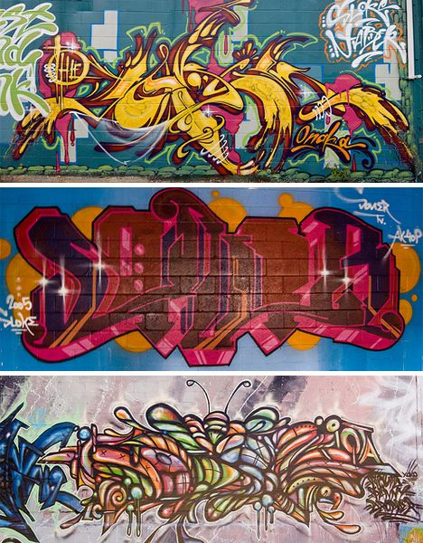 Style: Wildstyle - complicated and stylized (not easy to read) with arrows, spikes and curves