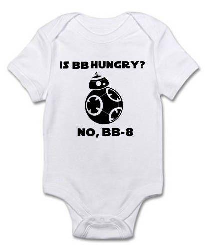 Star Wars Onesie, BB8 Hungry Onesie, Baby Onesie, Funny Baby Onesie, Baby Boy Onesie, Baby Girl Onesie, Baby Shower Gift