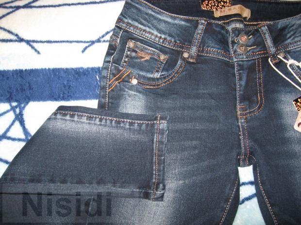 Молодежные потертые темные джинсы M.Sara Jeans women dnepr
