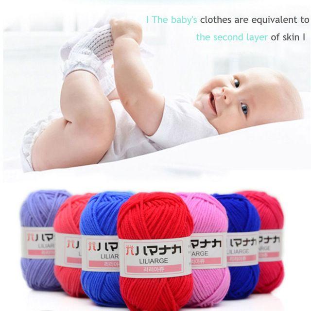 El Bebé Leche Infantil de Algodón Bufanda Tejida A Mano de la Aguja de Gancho Hilo de Tejer Lana Gruesa Manta Ecológico Teñido Mano Knit 7A0030
