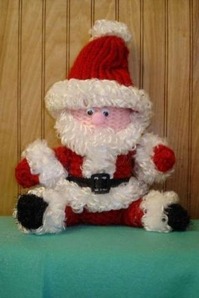 Santa Claus Loom Knitting Doll Pattern