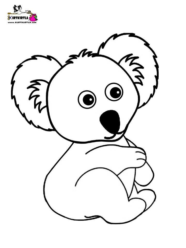 Boyama Sayfasi Koala Hayvan Cizimi Hayvanlar Vahsi Hayvanlar