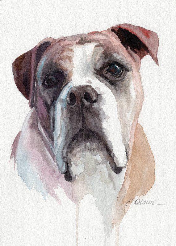 Pet Portrait Custom Dog Portrait In Watercolour By Petartgallery