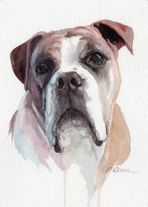 Custom Watercolor Pet Portrait Painting Personalized Watercolor