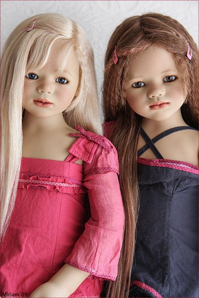 Sini and Ajescha #dollsRealistic Dolls, Luluzinha Kids, Ajescha Himstedt, Baby Dolls, Beautiful Dolls, Ajescha Dolls, Annette Himstedt, Dolls Features, Himstedt Dolls