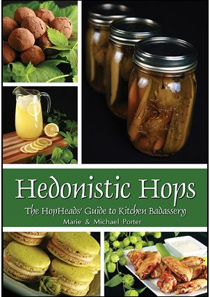 Hops are prized for their ability to impart varied, complex flavours to beer... but did you know they can also be used culinarily?   Marie Porter has developed an entire cookbook of hop recipes – the first of its kind... and it's now available for preorder!   #HedonisticHops #Homebrew #Beer #Hops #Cooking #Baking #Recipes #Food #Brewing