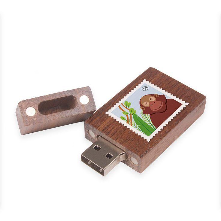 Wood Usb Flash Drive Custom Logo 8GB Thumb Drive Wedding ...