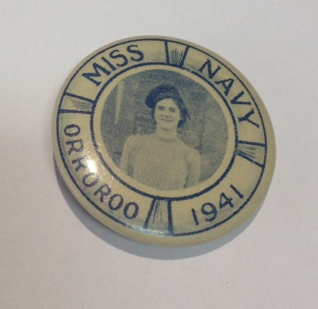1941 Miss Navy - Orroroo Tin Badge