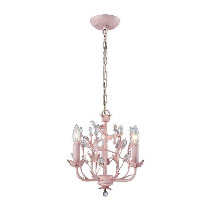 Titan Lighting Circeo 3-Light Light Pink Chandelier