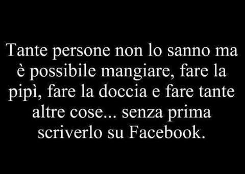 Senza prima scriverlo su FB :-)