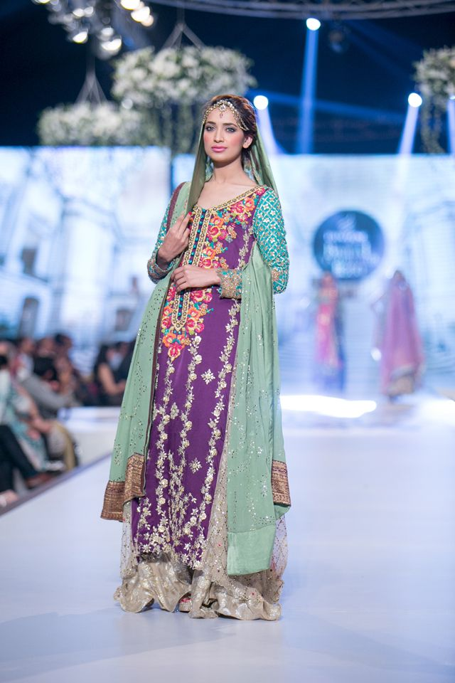 Anarkali by Tena Durrani at 2014 PBCW Bridal Collection