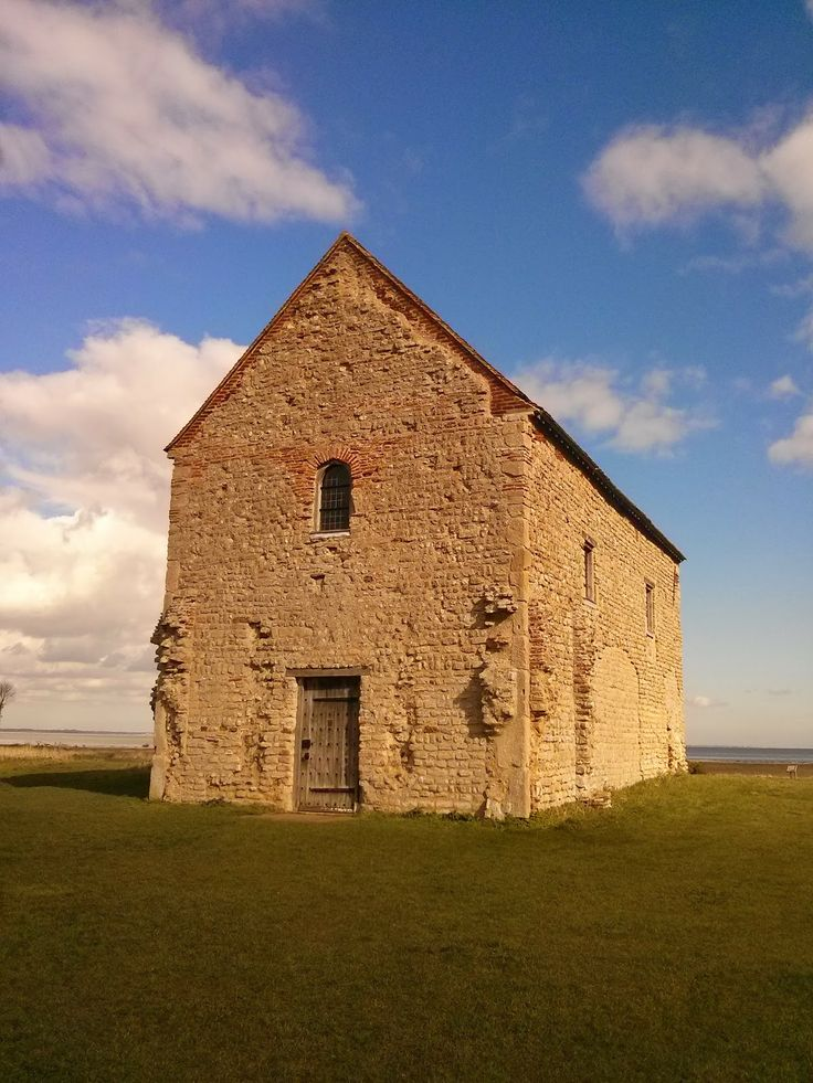 Church of St Peter on the Wall, Bradwell-on-Sea.  645 AD by St Cedd, partially using bricks from the previous Roman fort on the site