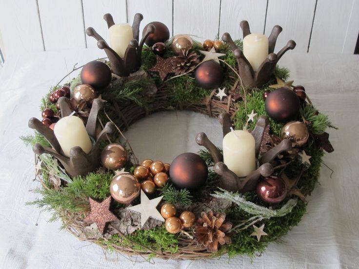 343 best Adventskrnze natur images on Pinterest  Christmas ideas