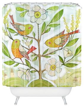 Cori Dantini Community Tree Shower Curtain eclectic-shower-curtains